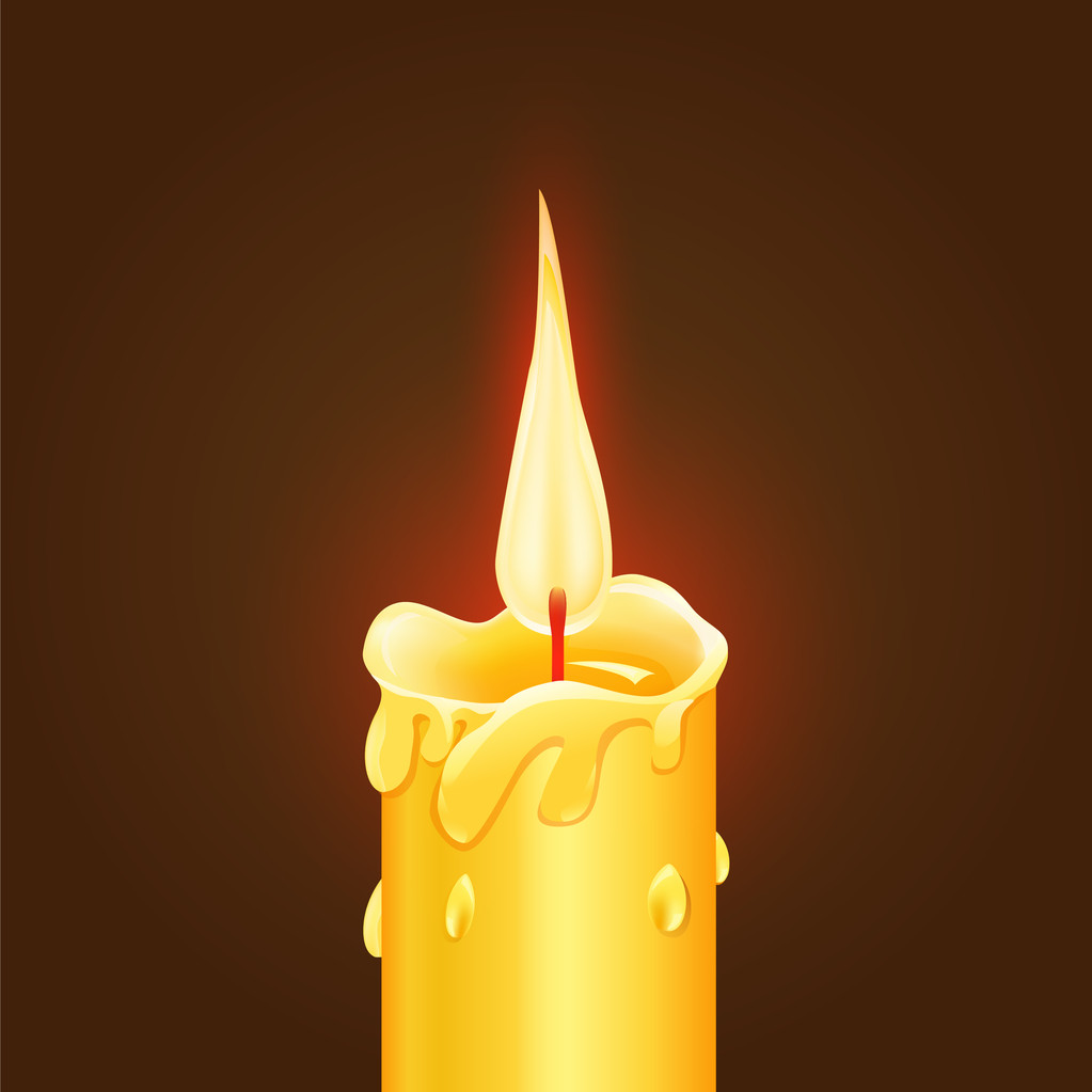 Vector illustration of Burning Candle