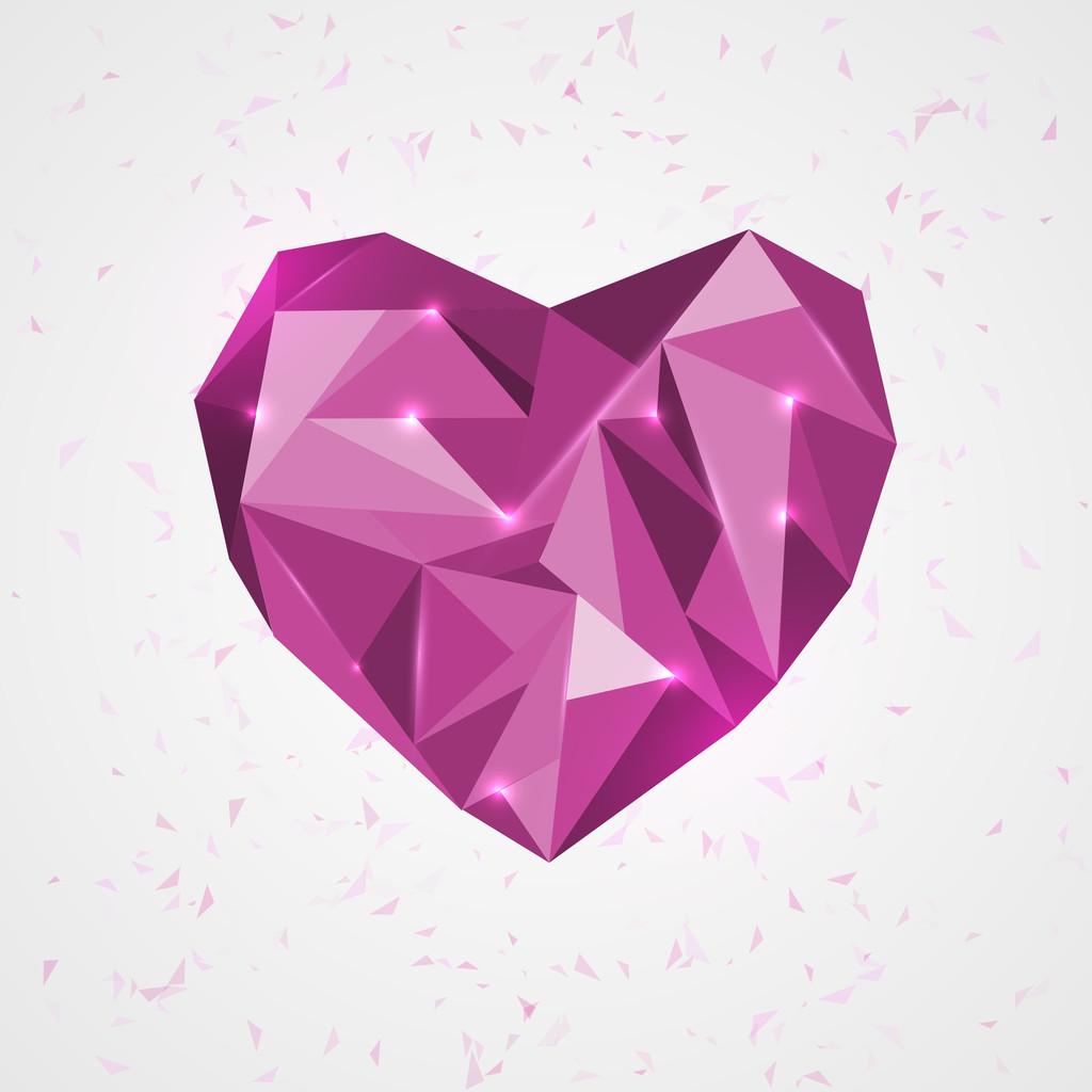 Geometry heart. vector illustration.
