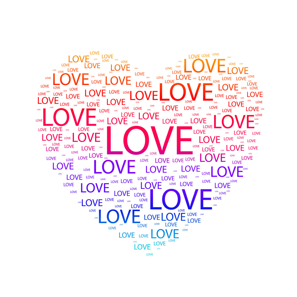 Heart of love. Vector illustration