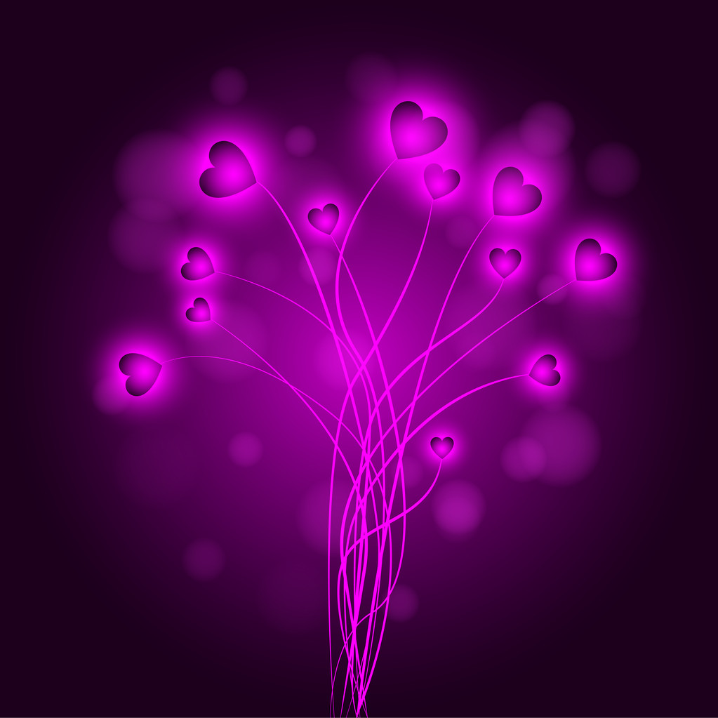 Vector abstract background with hearts.