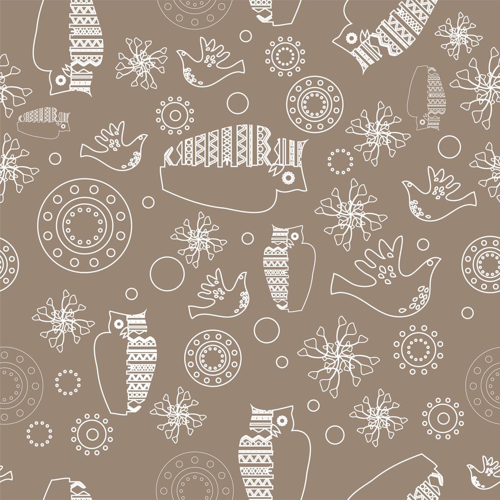 Vector folk background. Vector illustration.