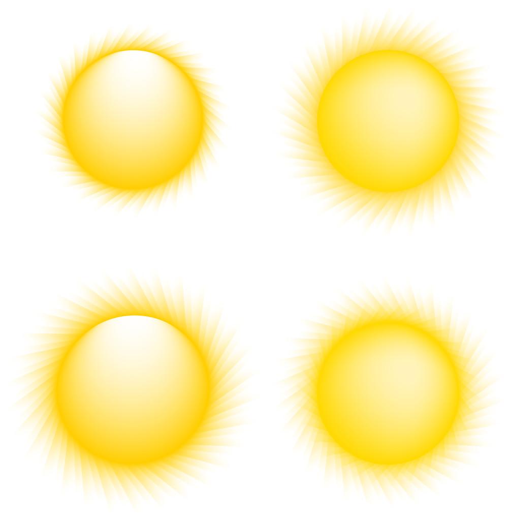 Vector Sun Icons. Sun Collection