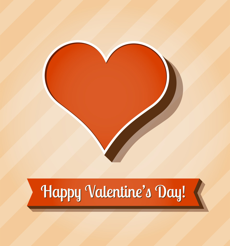 Vector card for Valentine's Day.