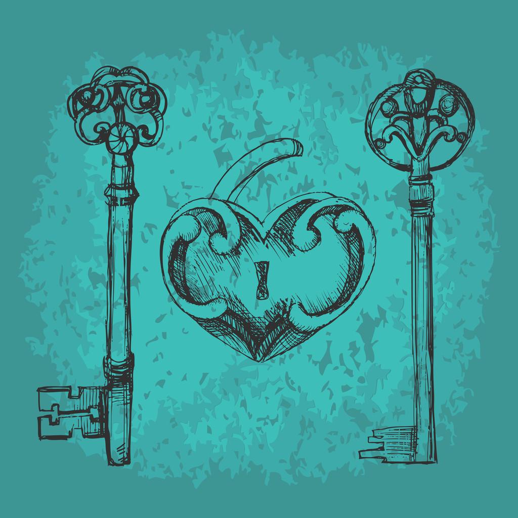 Vector keys to heart.