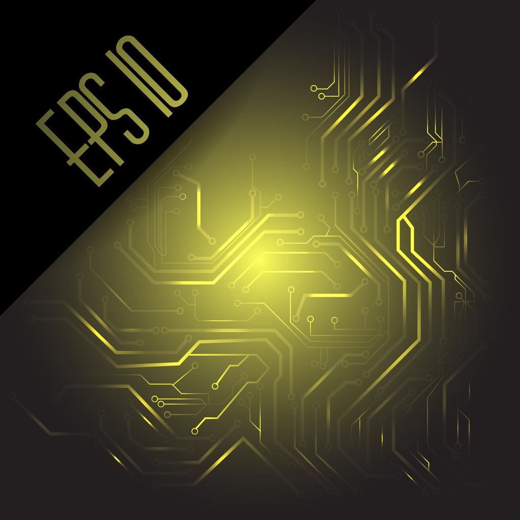 Circuit board. Vector background