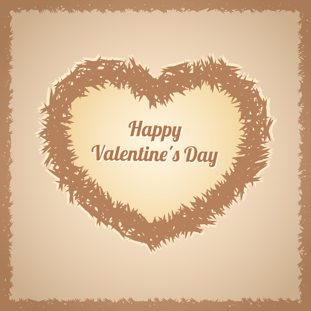 Vector background with fluffy heart.