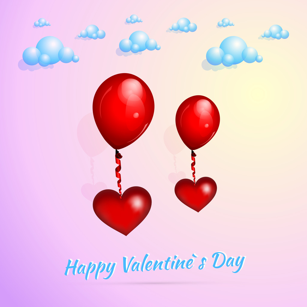 Valentine's background with balloons