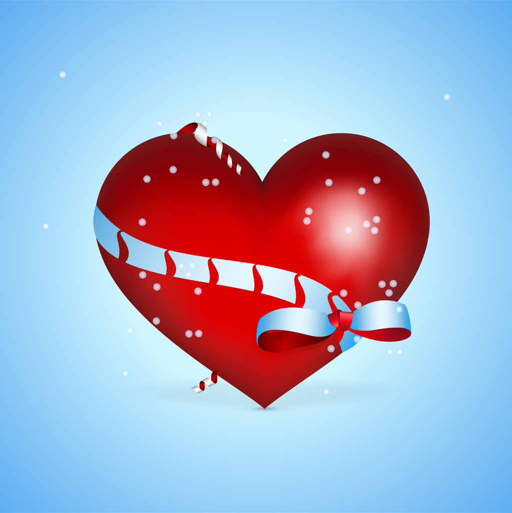 Vector background with heart for Valentine's day.
