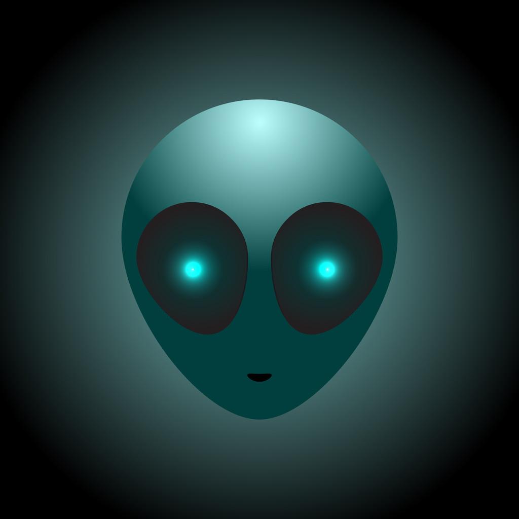 Vector alien head. Vector illustration.