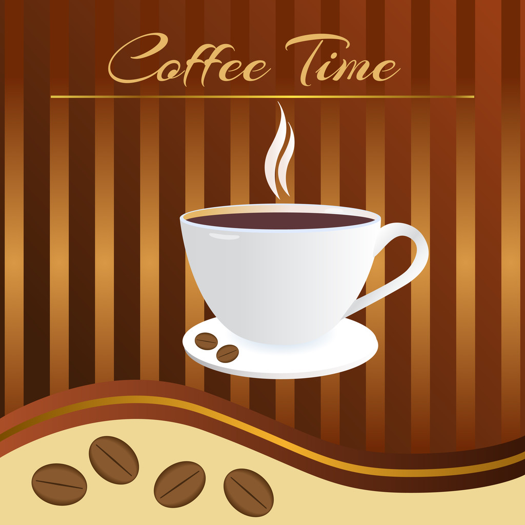 Coffee time card. Vector illustration.