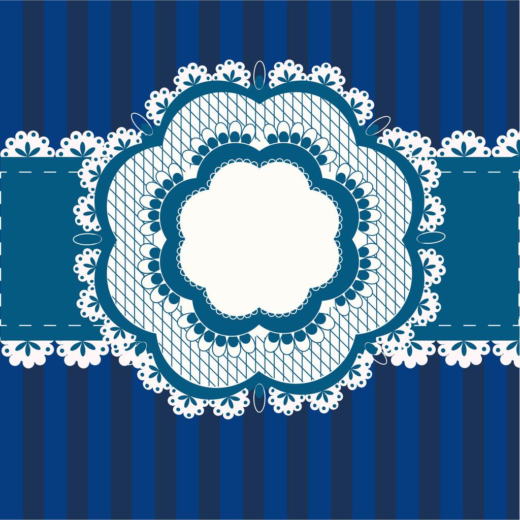 Vector vintage blue frame