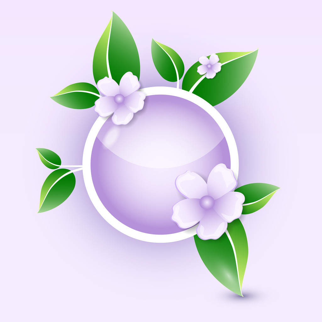 Floral icon. Vector illustration.