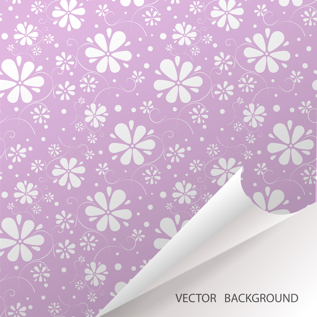 Abstract seamless background with flowers. Vector pattern