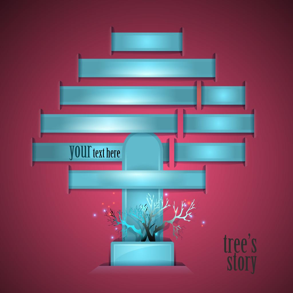 Tree's story. Vector illustration.