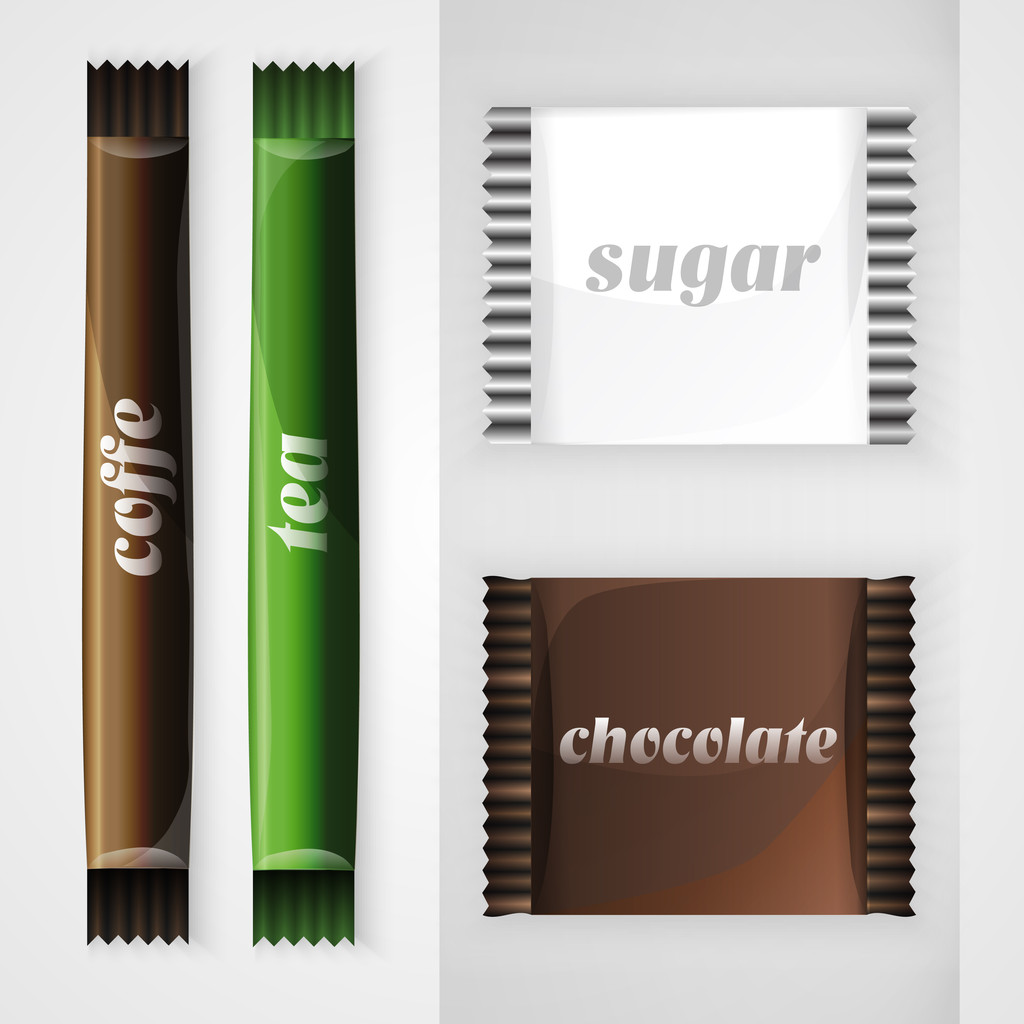 Set of design elements to advertise cafe.