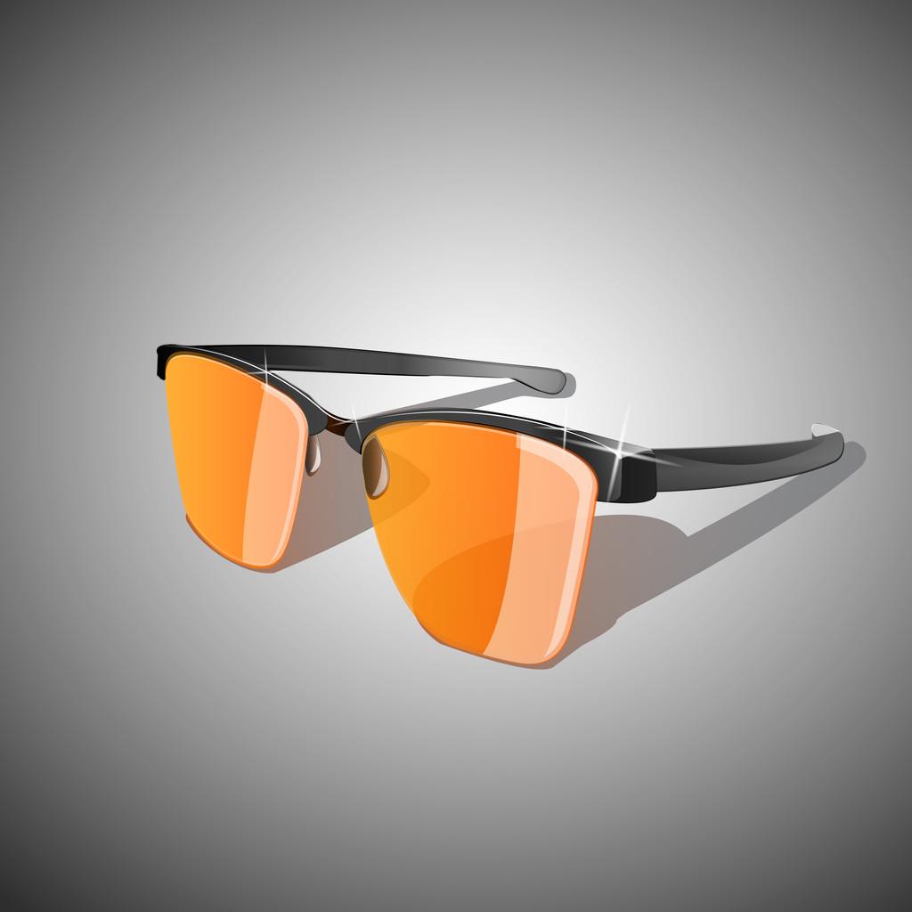 Vector illustration of yellow sun glasses