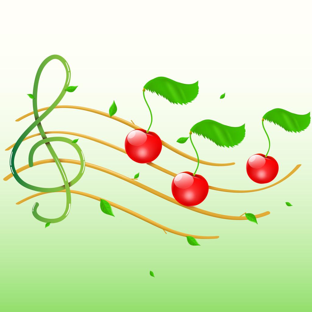 Summer musical banner.Vector