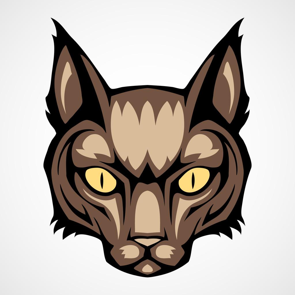 Vector illustration of a cat head