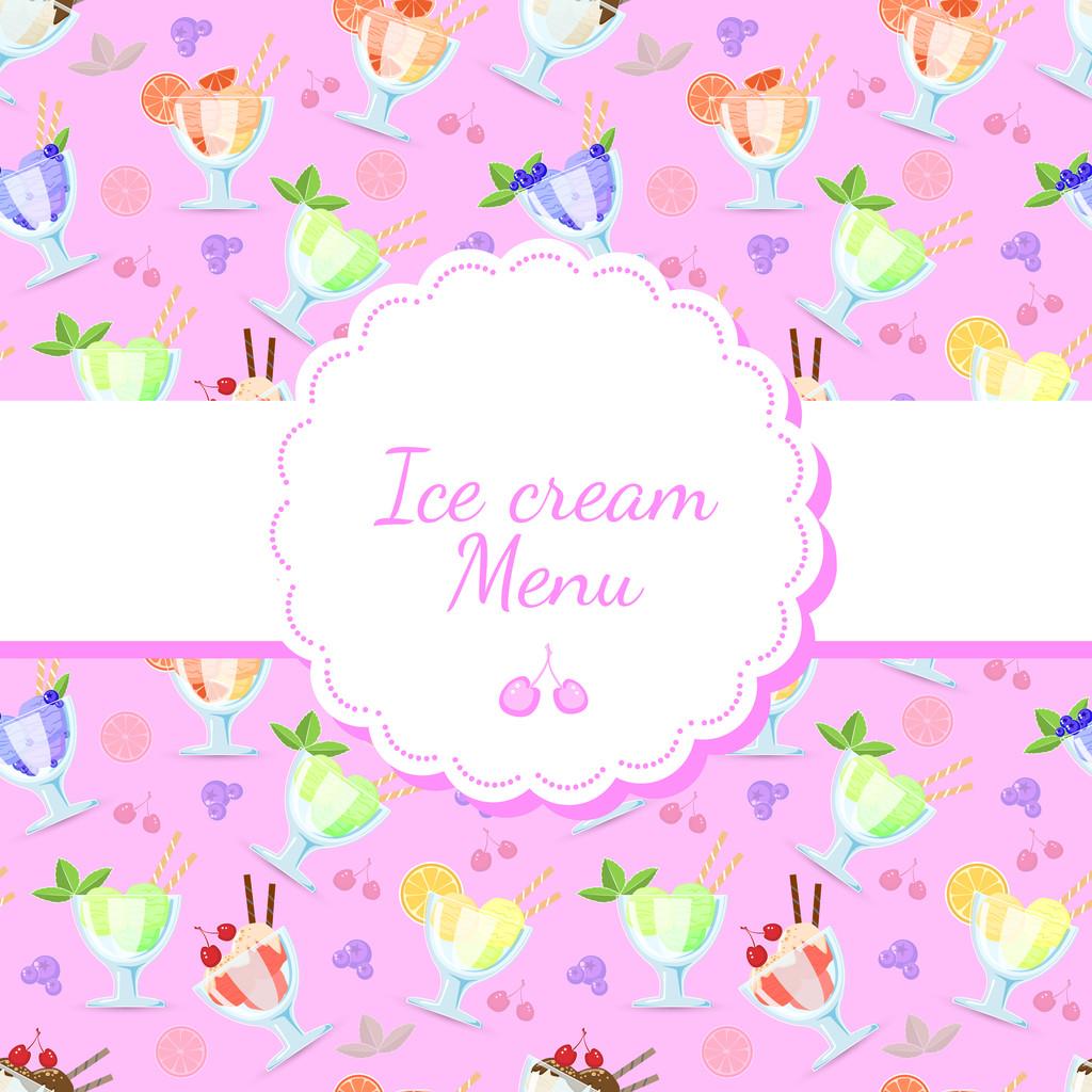 Vector background for ice cream menu.