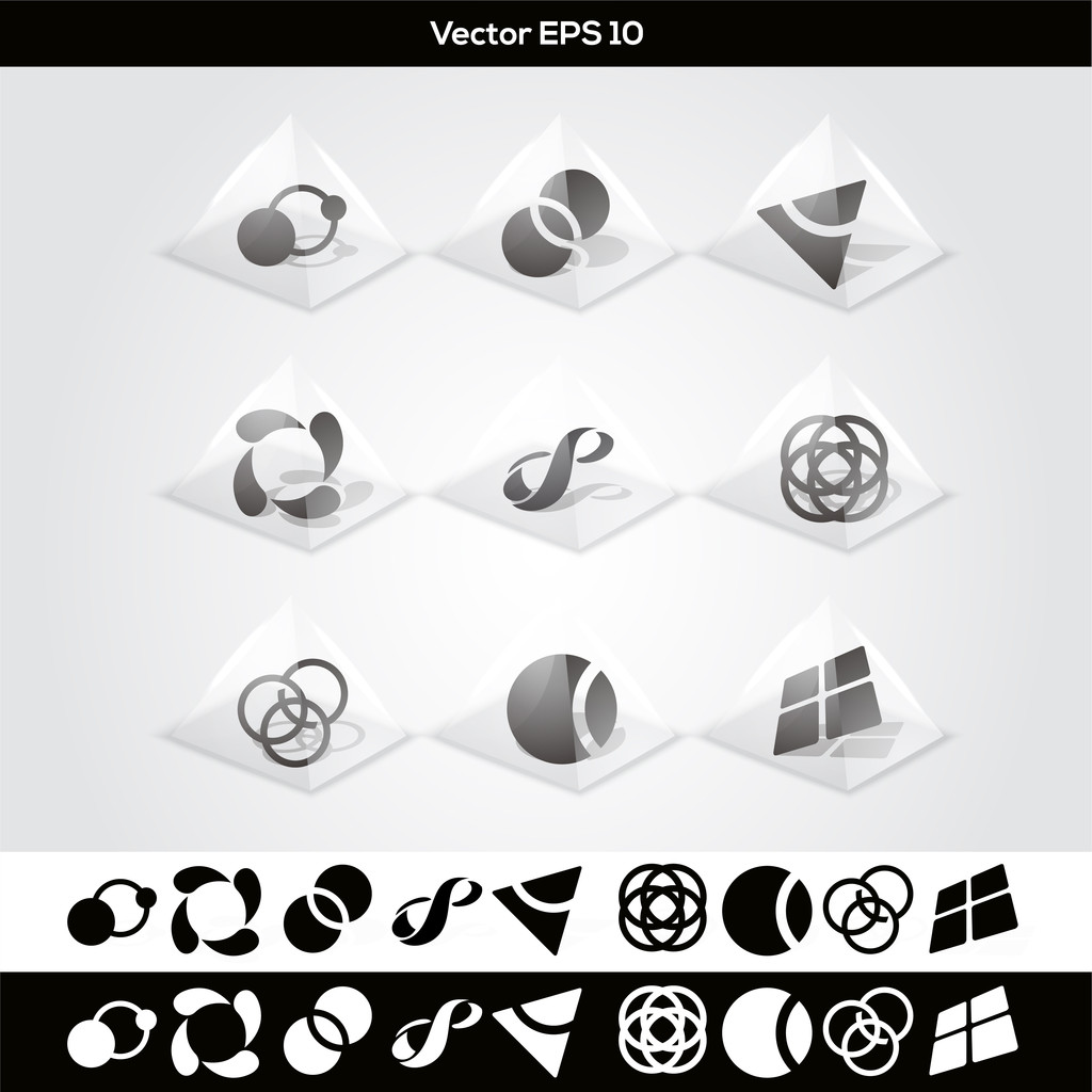 Vector abstract buttons. vector illustration
