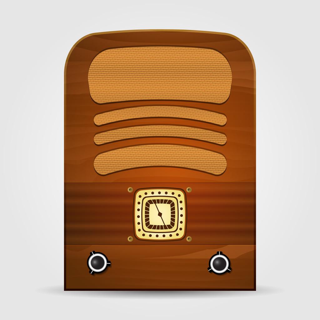 Retro radio. Vector illustration.