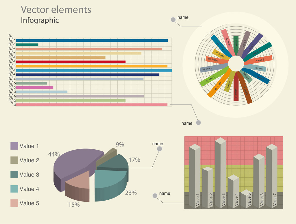 Infographic elements. Vector illustration.