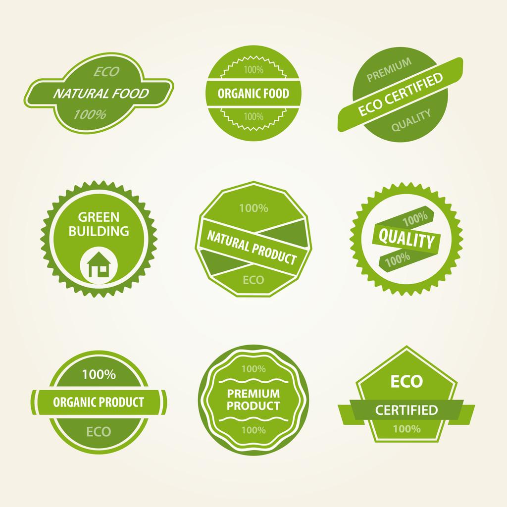 Set of organic vector labels