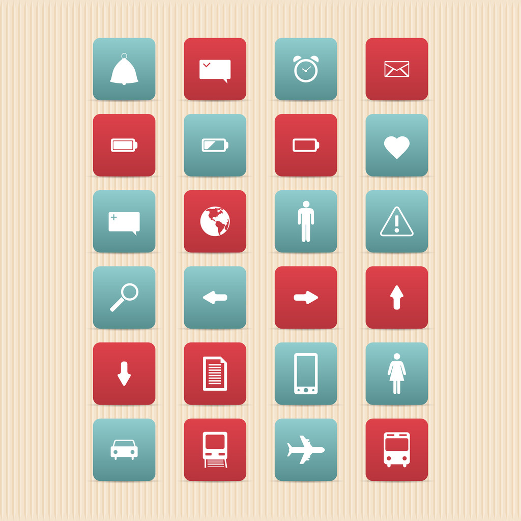 Web icons set. Internet icons collection.