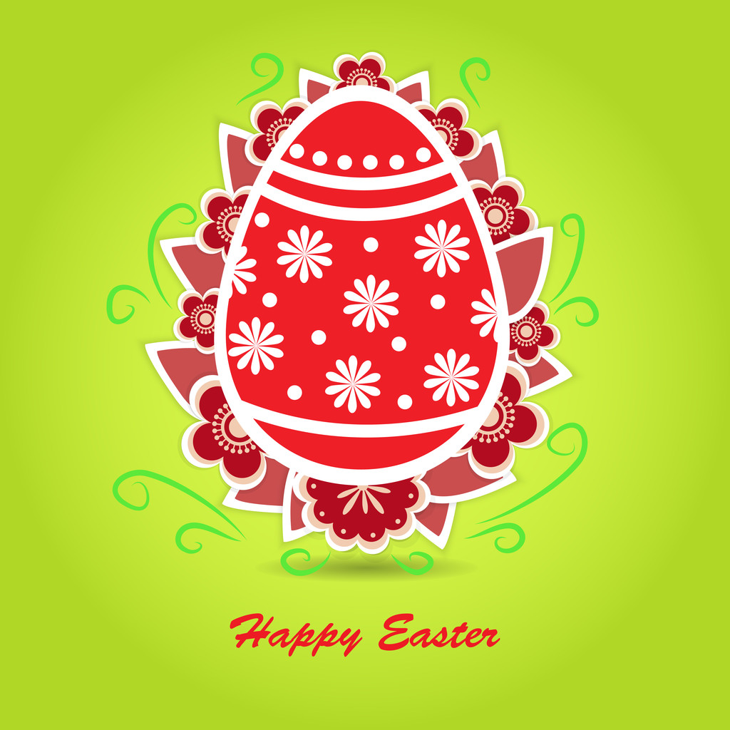 Happy Easter Greeting Card. Vector