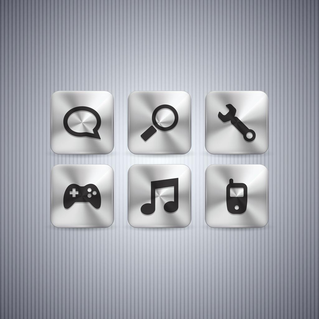 Button set, vector design