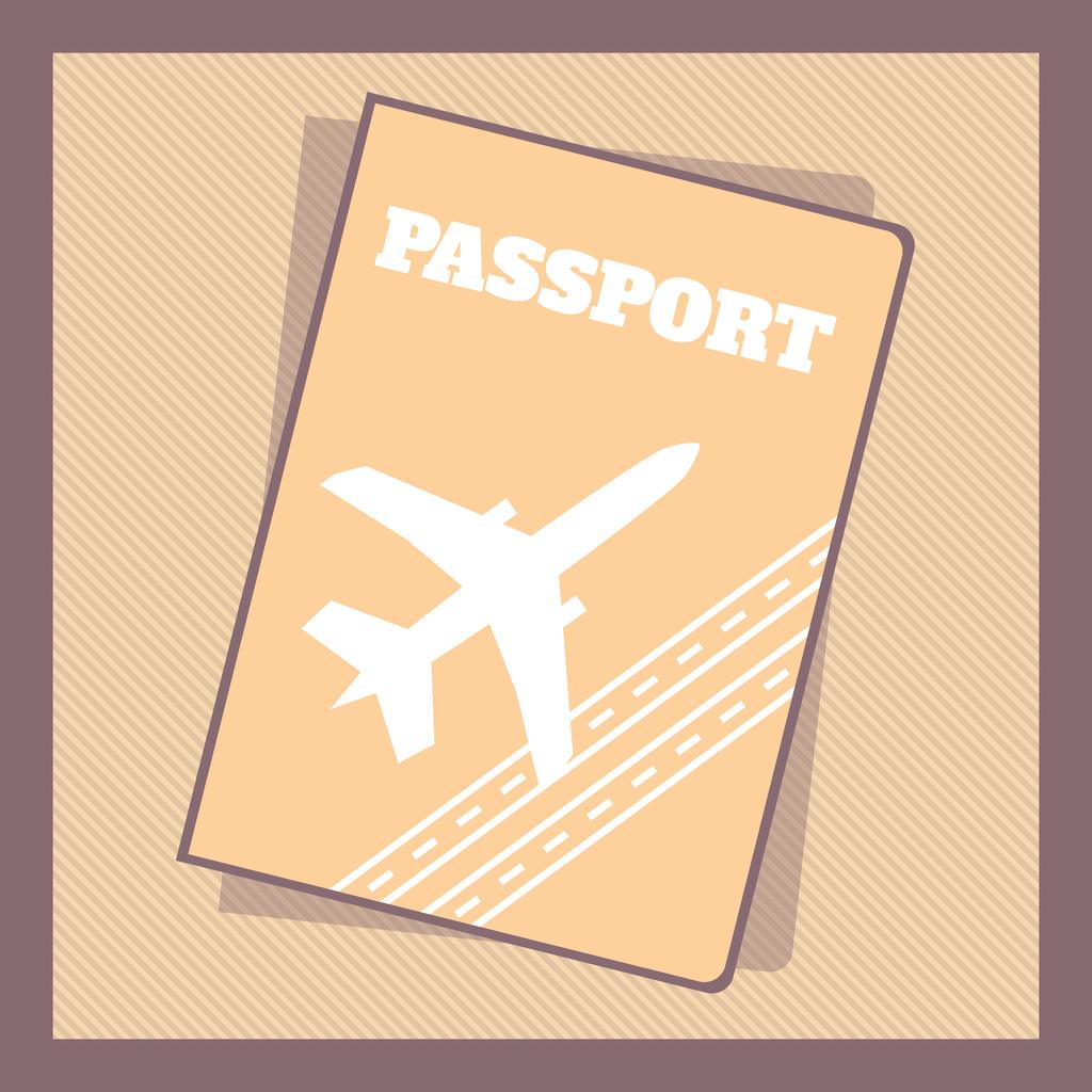 Passport Cover, vector design