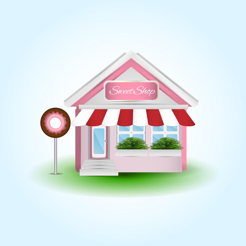 Donut Shop, vector illustration