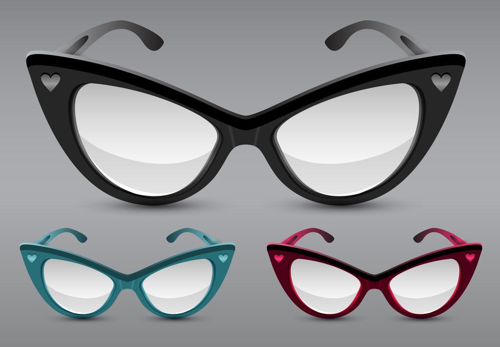 Retro sunglasses, vector illustration