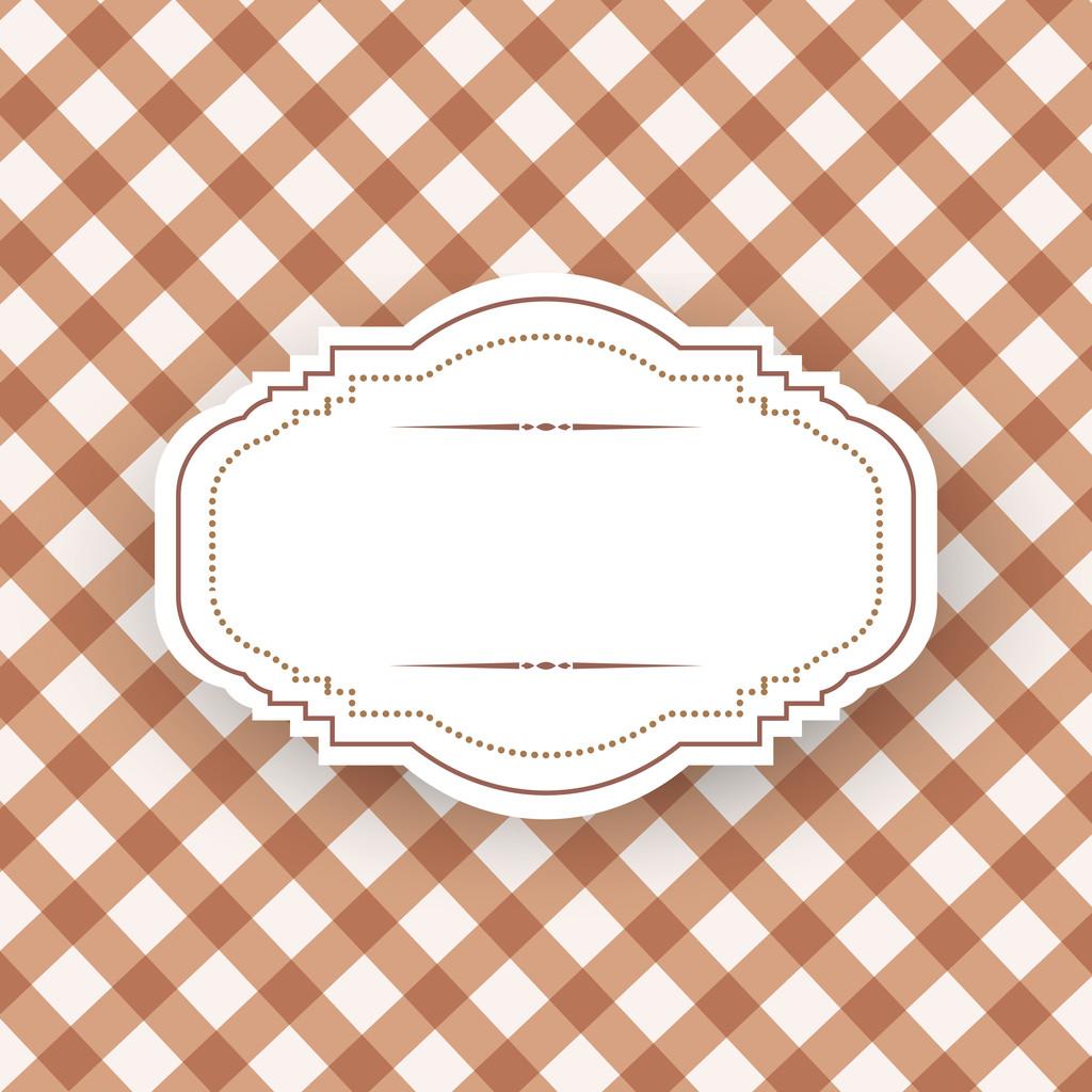 Vintage frame template, vector design