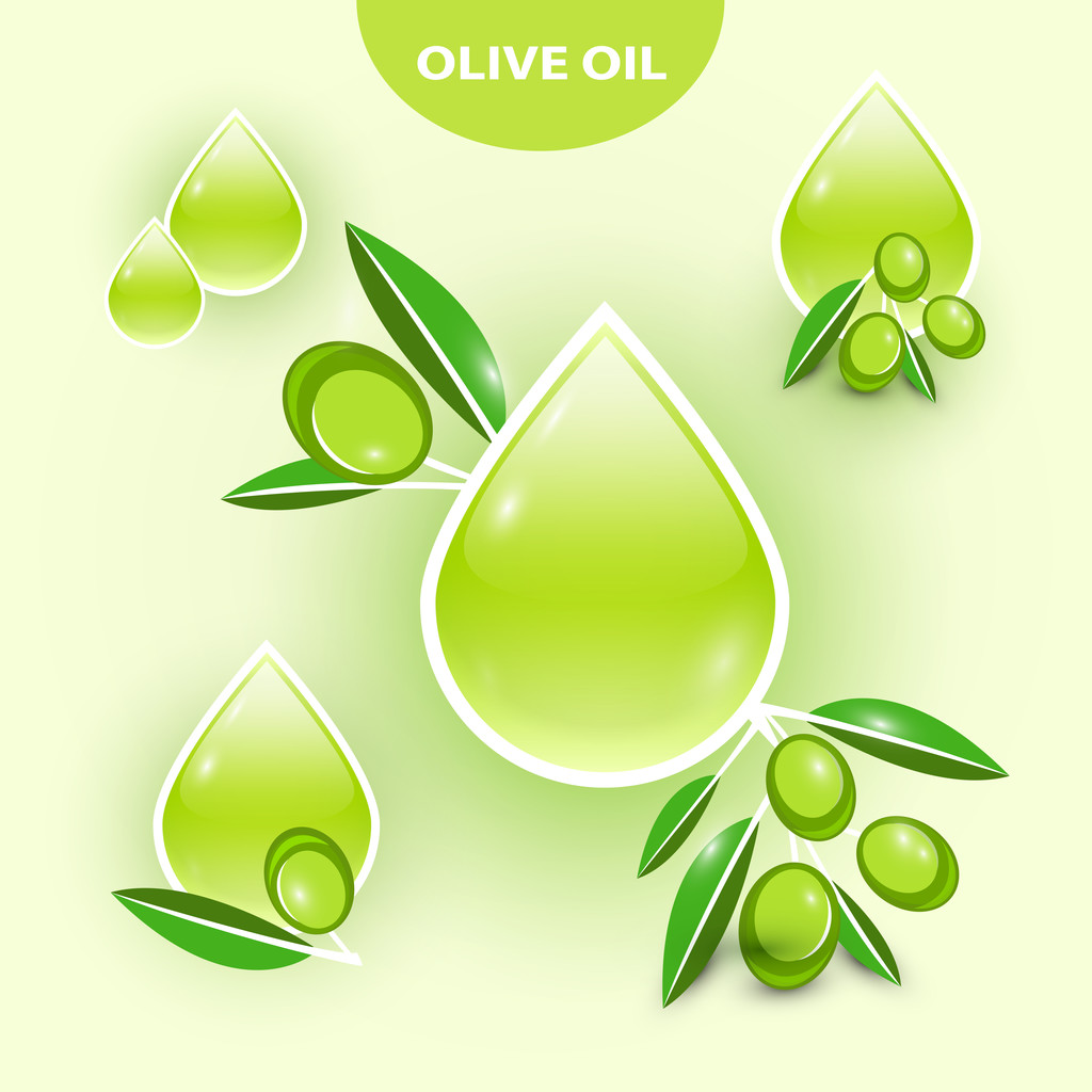 Icon of vector olive oil