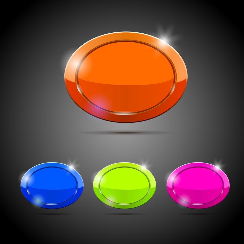 Vector buttons, vector illustration
