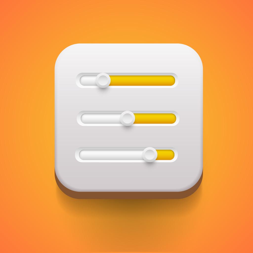 User interface power sliders