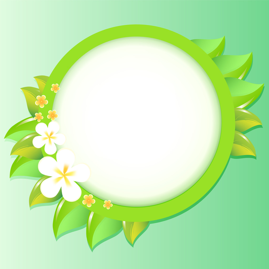 Greeting card with flowers. Vector.