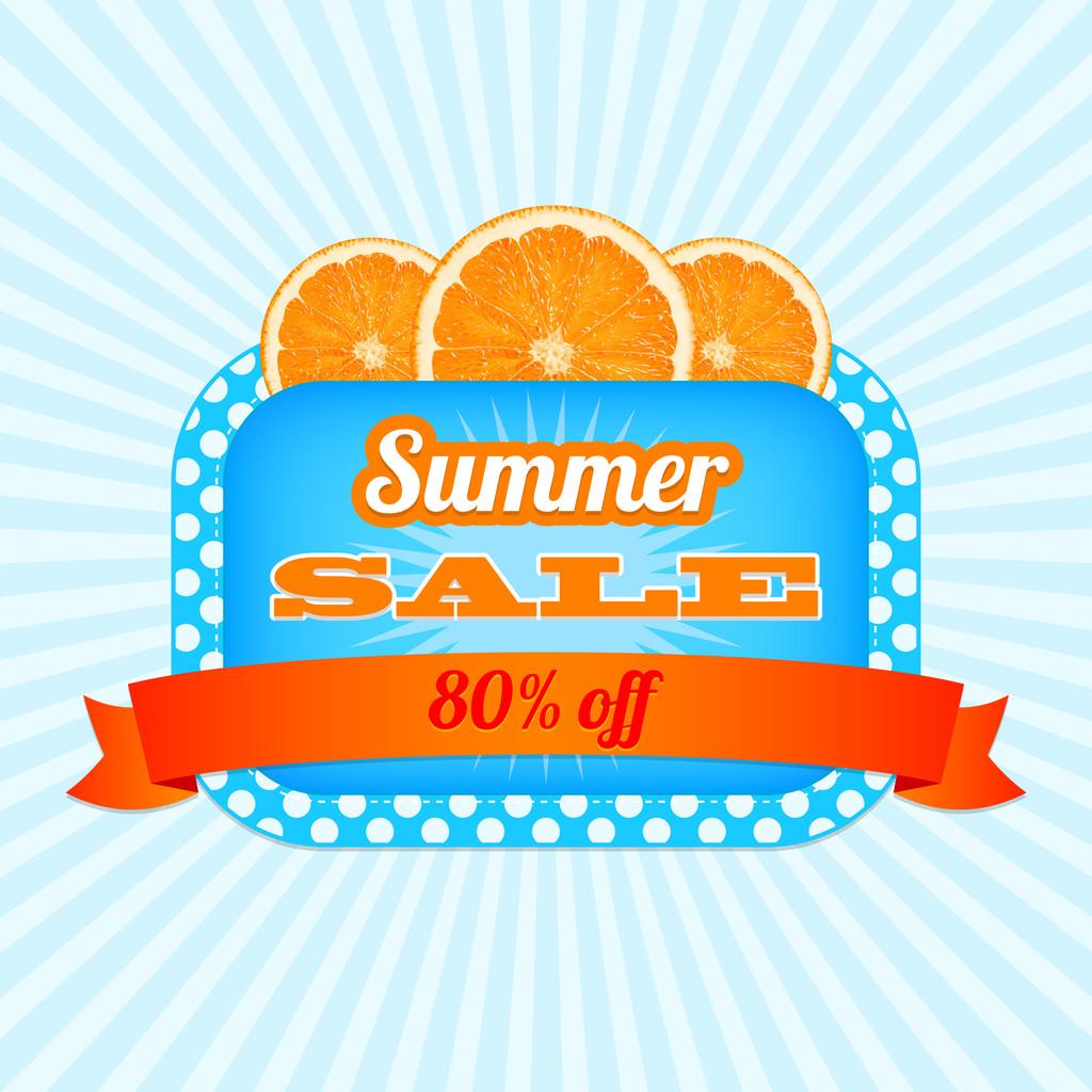 Summer Sale Icon. vector illustration