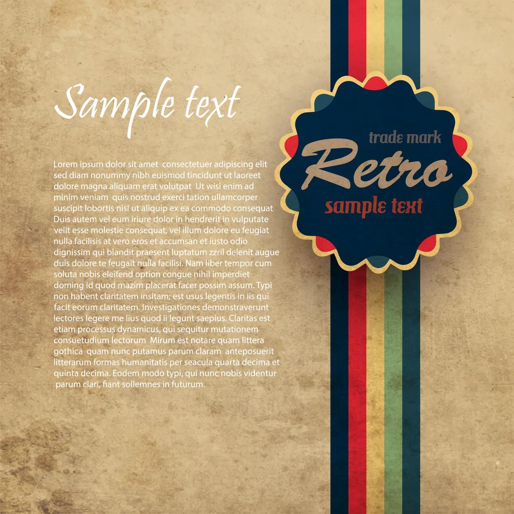 Grungy retro background. Vector illustration.