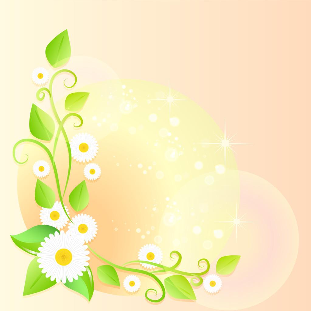 Light spring floral background