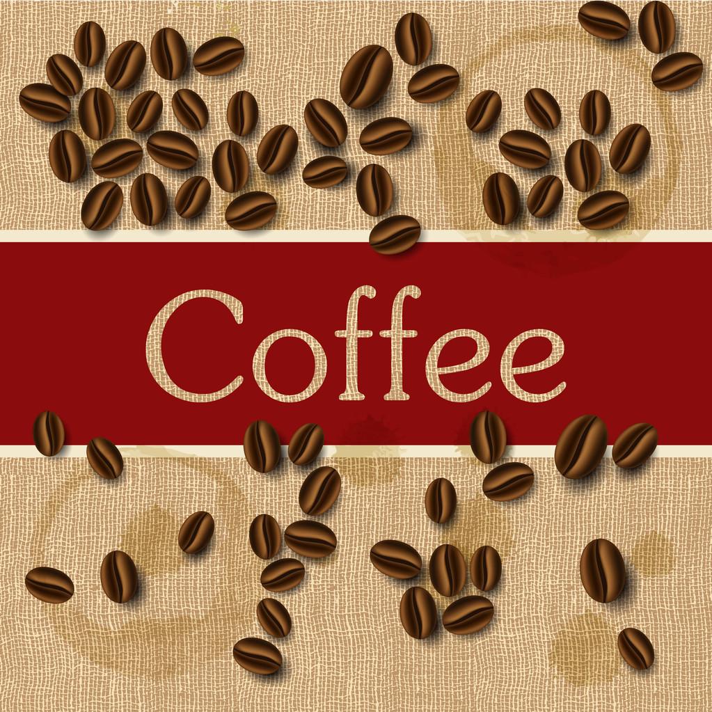 Coffee beans design, vector illustration