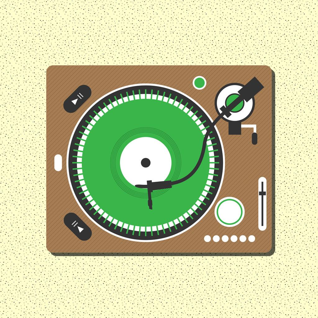 Record Player vector illustration