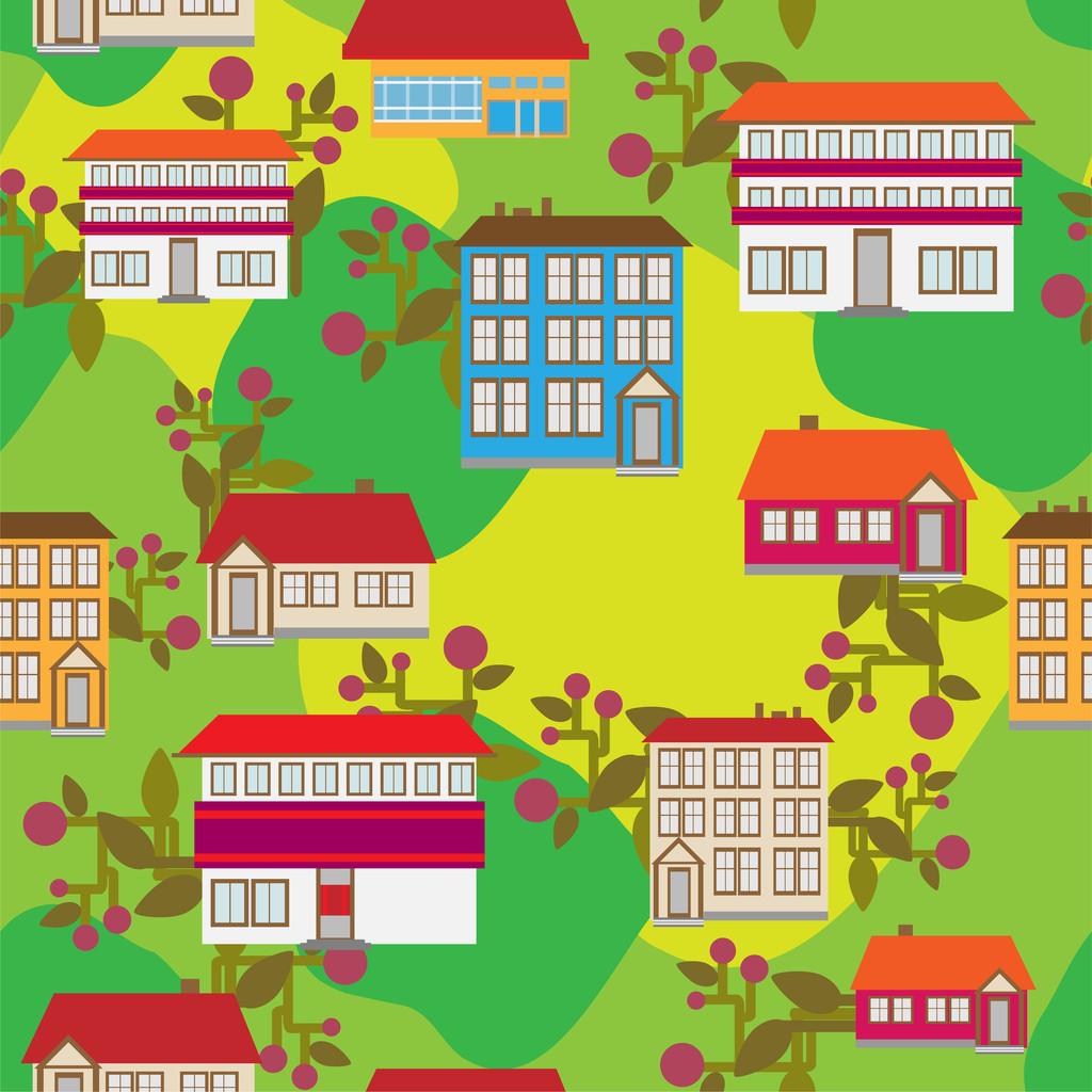 Cartoon city vector illustration