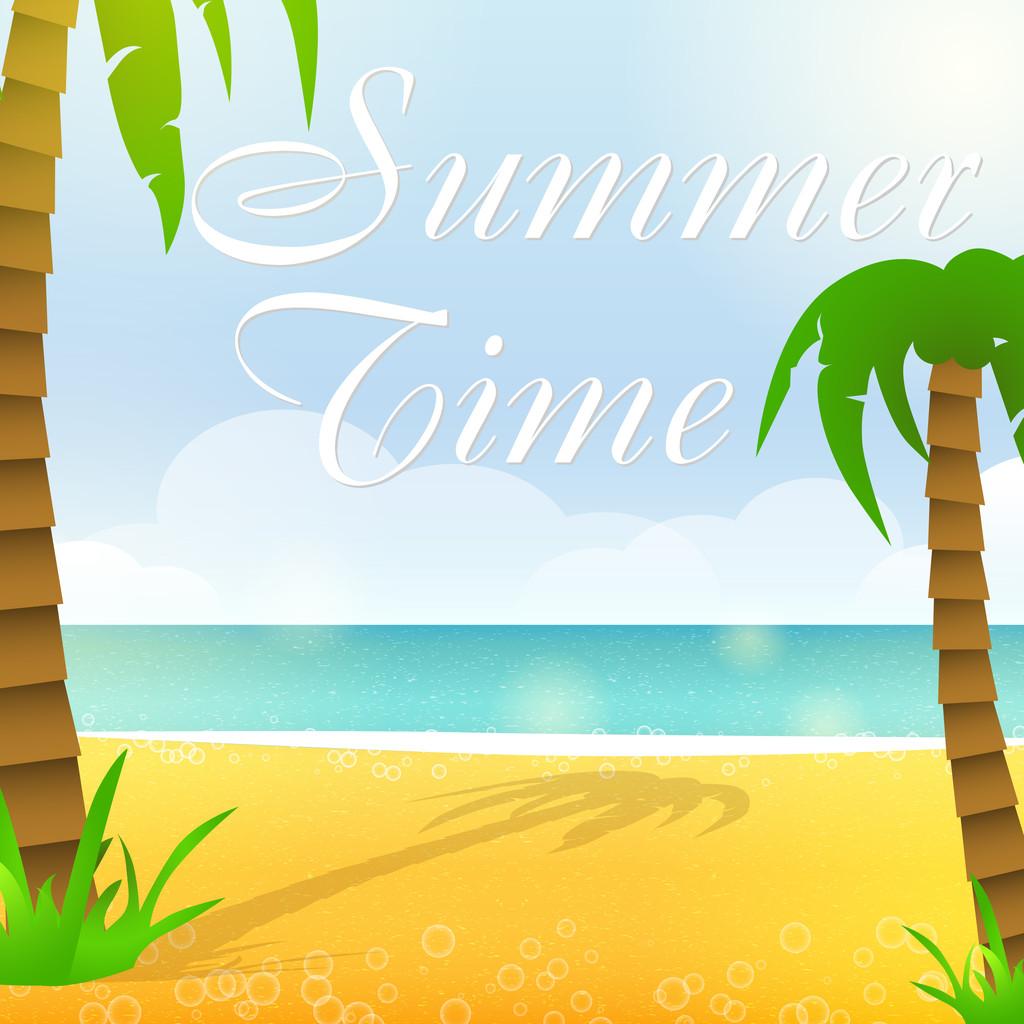 Summer time, vector illustration