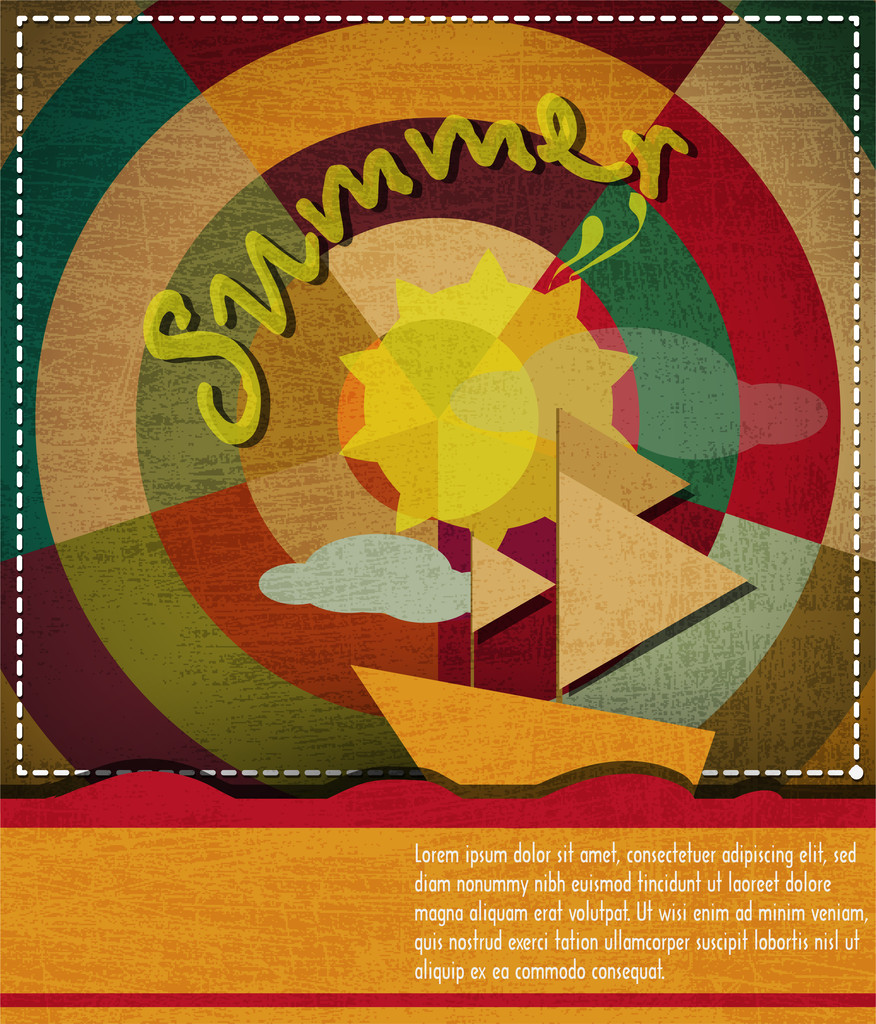 Summer background vector illustration .