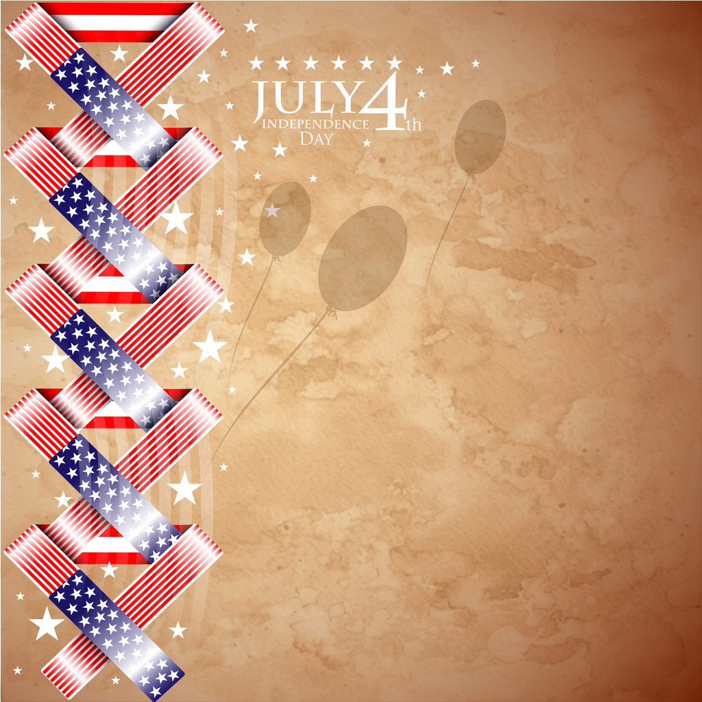 USA independence day illustration