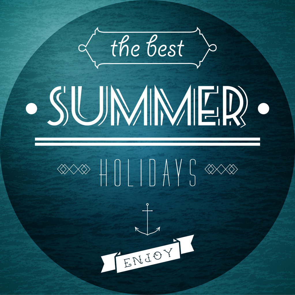 Summer Holidays picture vector illustration