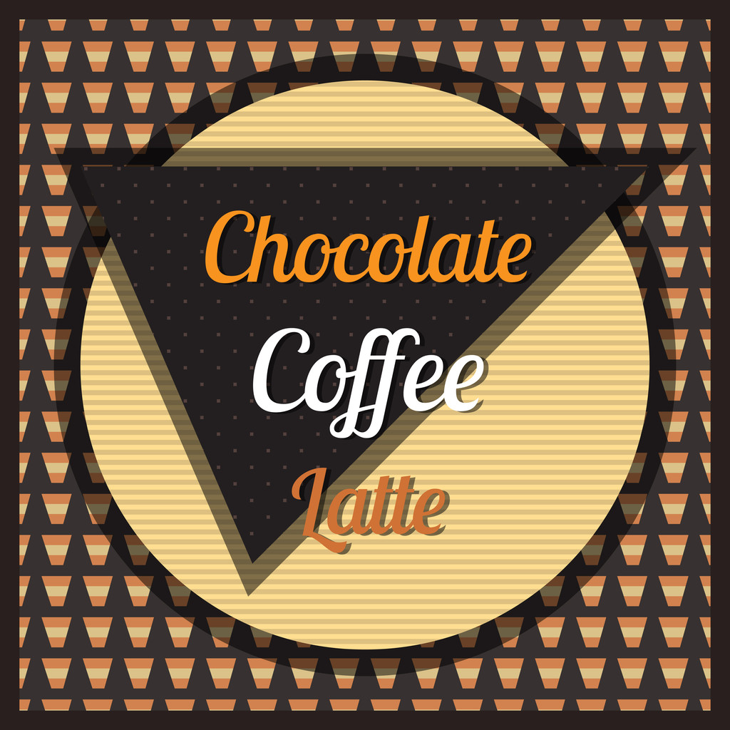 Chocolate, coffee, latte background