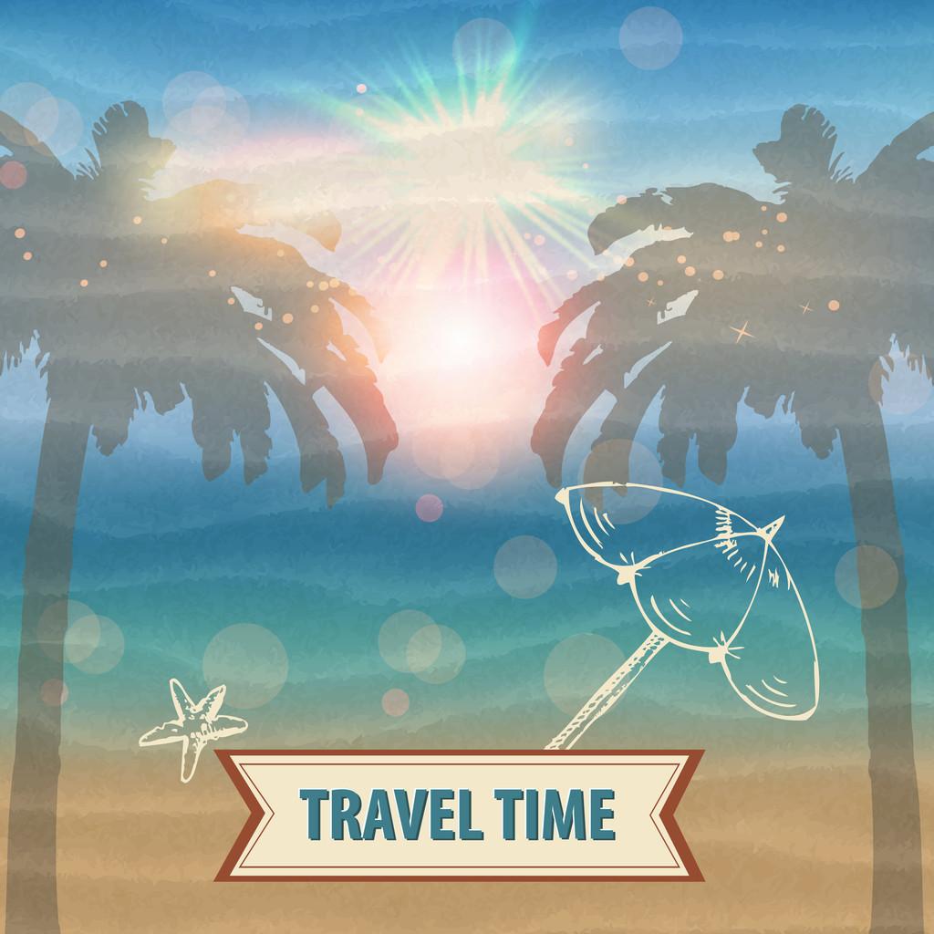Travel time vector illustration
